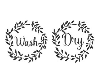 Washer & Dryer Decal 10.5x10.5