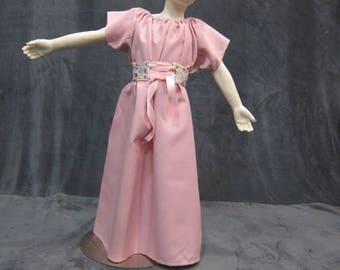 Girls Chemise Dress Medieval Chemise Renaissance Chemise Dress Childs Chemise Dress Kids Underdress Kids Ren Faire Garb Kids Chemise Dress