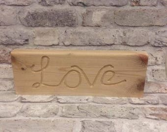 Handmade Solid Wood Word Block