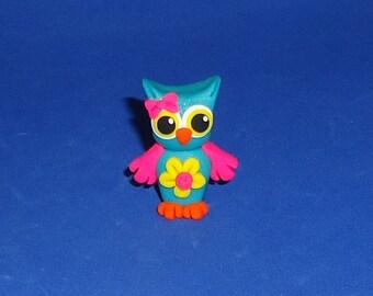 Polymer Clay Spring Flower Owl