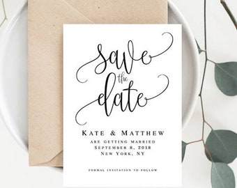 Wedding save the date Save the date beach Wedding announcement template Save the date baby shower Announcement Printable templates #vm41