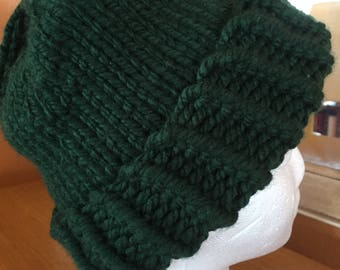 Forrest green knitted hat