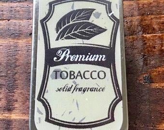 Premium Tobacco Solid Fragrance 1/4 oz Slide Tin