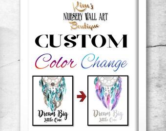 Custom Nursery Art, Custom Wall Art, Custom Wall Art Name, Custom Nursery Decor, Custom Color Change, Custom Color Wall Art, Nursery Decor