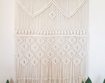 Audrey - Macrame Wall Hanging / Macrame Wall Art / Wall Tapestry / Large / One of a Kind / Boho