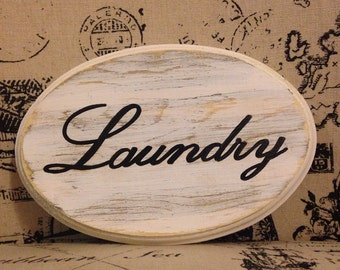 Adorable Laundry Sign (White) (5x7)