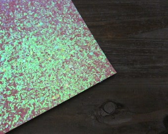 Glitter Material Electric Pink Fabric 8X10 sheet