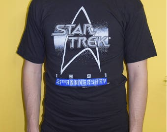 Star Trek 90s vintage t-shirt 25th anniversary sci-fi