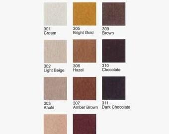 5 Plain Felt - Browns - 20cm x 20cm per sheet - Pick your own 5 colors