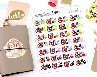 Target Run Planner Stickers - Shopping Planner Stickers - Dollar Spot Planner Stickers - Functional Planner Stickers - 369