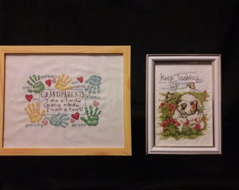 Grandparents frame and Inspirational framed Embroidery