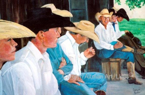 Western Art Print - Takin a Break.....canvas art print