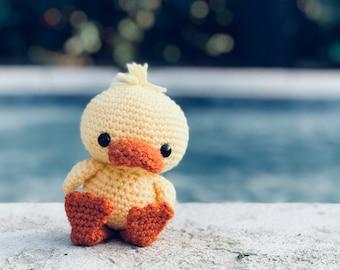 Sweet Honey Naked Crochet Duckling Amigurumi Lovey