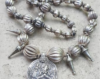 Vintage Silver Middle Eastern Silver Necklace