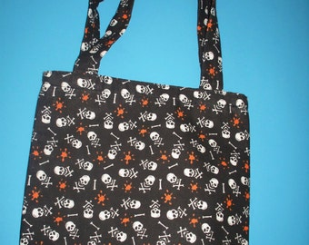 Tote Bag/ Purse Skull & Crossbones Blood Splatter Pattern Halloween