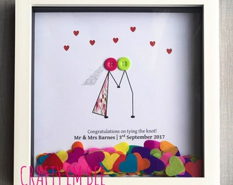 Button Frame for Wedding Day / Anniversary | Personalised