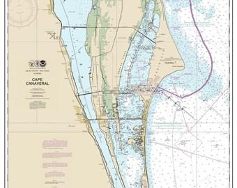 Cape Canaveral 2014 - Nautical Map Florida - Custom Print - 1:80000 11476-11484 - Reprint