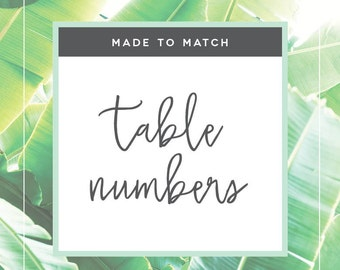 Extras - Table Numbers