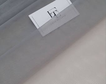 "Gray tulle fabric, lingerie tulle fabric, evening dress tulle, flower dress tulle, - 57"" (145 cm) wide - sold per meter T13184"