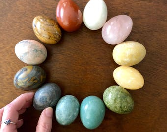 YONI GEMSTONE EGG Crystal Mineral Small Size