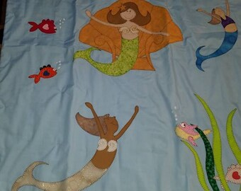Mermaid handmade lap quilt