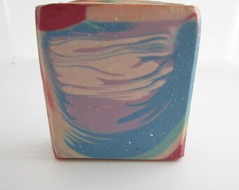 Rainbow Soap Handmade Cold Processed Soap Artisan Soap Olive Oil Soap