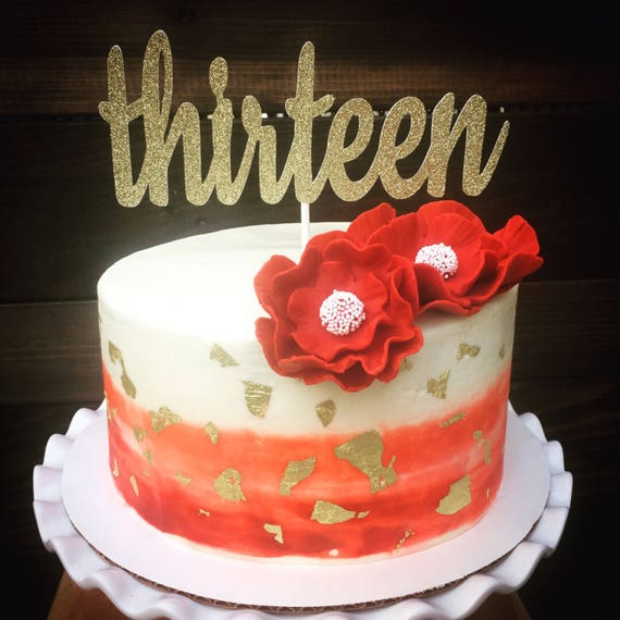Thirteen Cake Topper13th Birthday Cake Topper 13th Cake