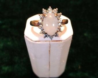 Vintage Blue Topaz Sterling Silver Ring Size 9 1/4 4.8g AFSP