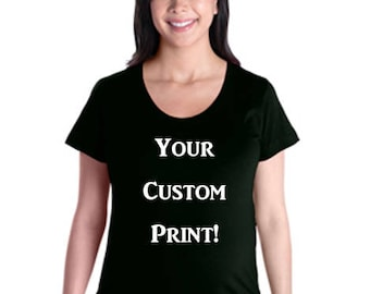 Ladies Maternity Tee w/ Custom Print