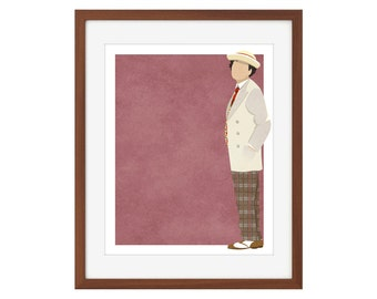 Doctor Who print - the Seventh Doctor/Sylvester McCoy