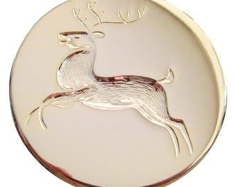 """Reindeer 1 3/4"""" Brooch Pin"""