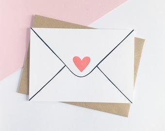 Lettre d'amour-carte de la Saint-Valentin de typographie
