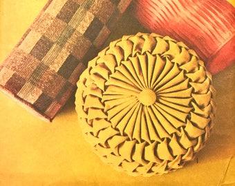 Fabulous Vintage Pillow Pattern With Transfers----Advance 721---UNCUT