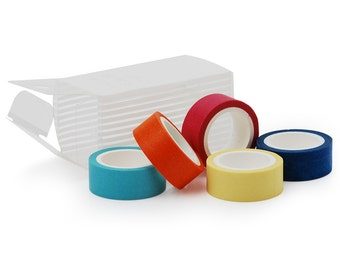 5 rolls Masking Adhesive Tape (1.5cm*5m) - Colorful 10043850