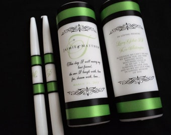 Monogram unity candle and memorial candle, Wedding Candle, Wedding Memorial, Weddings