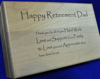 Retirement Gift ~ Retirement Gift For Dad ~ Engraved Wood Valet ~ Custom Wood Box ~ Gift For Dad ~ Groomsmen Gift ~ Engraved Wood Box ~ Dad