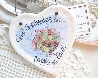 Gift for Great Grandmother Gift Birthday Gift Grandmother Salt Dough Ornament Gift for Her