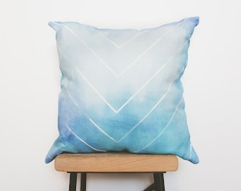 100% linen pillowcase farmhouse chic style blue cushion cover - Ready to ship