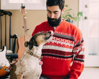 Vintage Fair Isle Sweater | Oversize Comfy Sweater