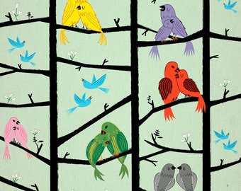 The Lovebirds - Limited Edition Print - iOTA iLLUSTRATION