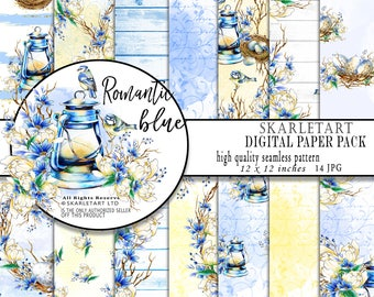 Wedding Paper Pack,Spring Paper Pack, Easter Digital Planner Stickers, Pastel Designer Paper Pad, Floral Fabric, Phone Wallpaper Watercolor