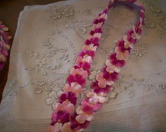 Millinery antique velvet flower trim by the yard
