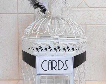 Gatsby Themed Wedding Birdcage Card Holder | Wedding Card Box | Custom Wedding Decor | Art Deco Wedding | Flapper Wedding Decor