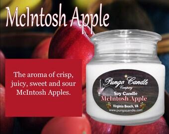 McIntosh Apple Scented Soy Jar Candle (16 oz.)