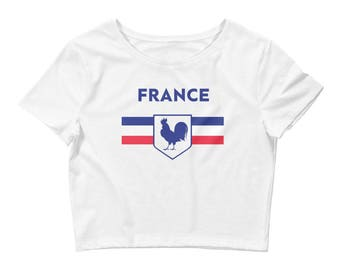 France Women's Rooster Crop Tee