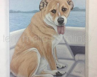 CustomDog Portrait, 11x14, Pet Portrait, Custom Pet Portrait, Painted Pet Portraits, Dog Portrait Custom, Acrylic Painted Portrait