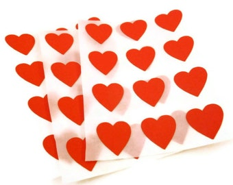 120 Count - Heart Stickers - Red Sticker - Valentines Sticker - Envelope Seal - 0.75 inch - 20 Colors Available - Choose Your Color