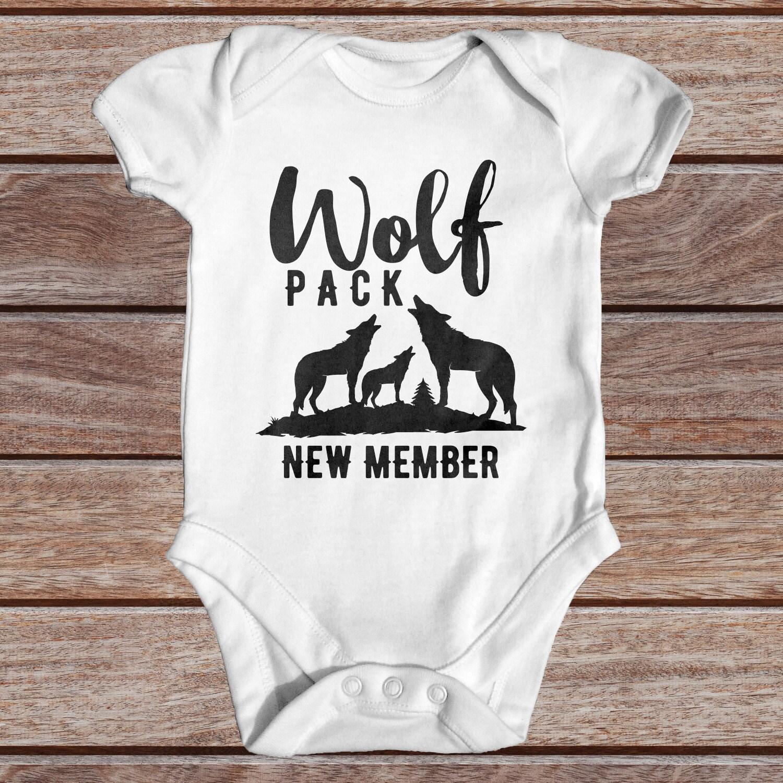 Wolf Pack New Member Baby Bodysuit Animal Baby Bodysuit