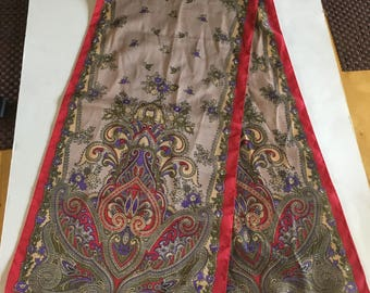 Vintage Signed Fabio Pucci Paisley Long Scarf 1970s 1980s