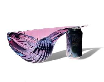 MONUMENTAL Alfredo BARBINI Murano ALEXANDRITE Conch Shell Glass Centerpiece | Bowl